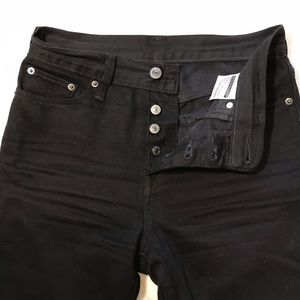 Levi's Jeans - EUC {Levi's} black button fly high waisted jeans
